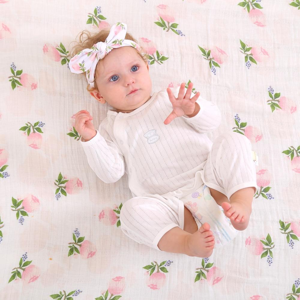 2PCS/Set Baby Swaddle Wrap Newborn Blanket Bedding Baby Stuff Cotton Swaddle Swaddle Baby Bunny Ears Headband Kawaii Blanket