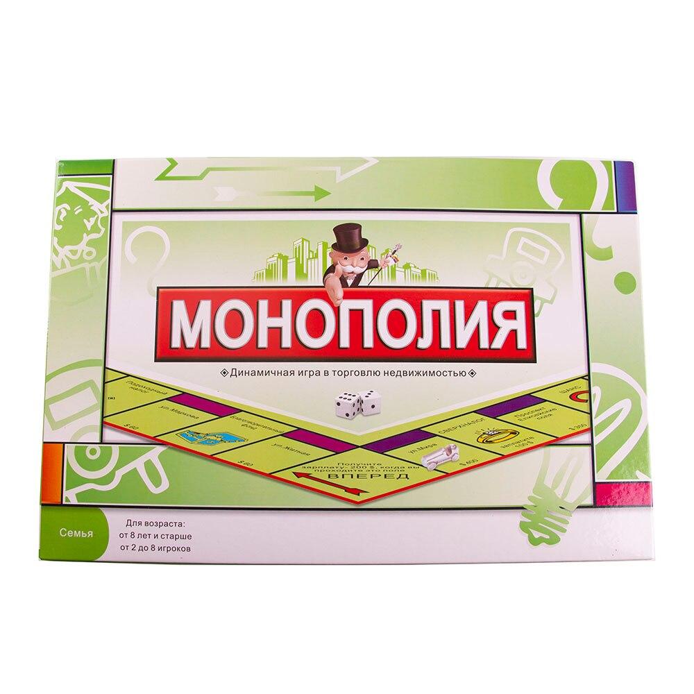 Развивающие игрушки Классические русские монопольные игры настольные игры Вечерние игры игрушки