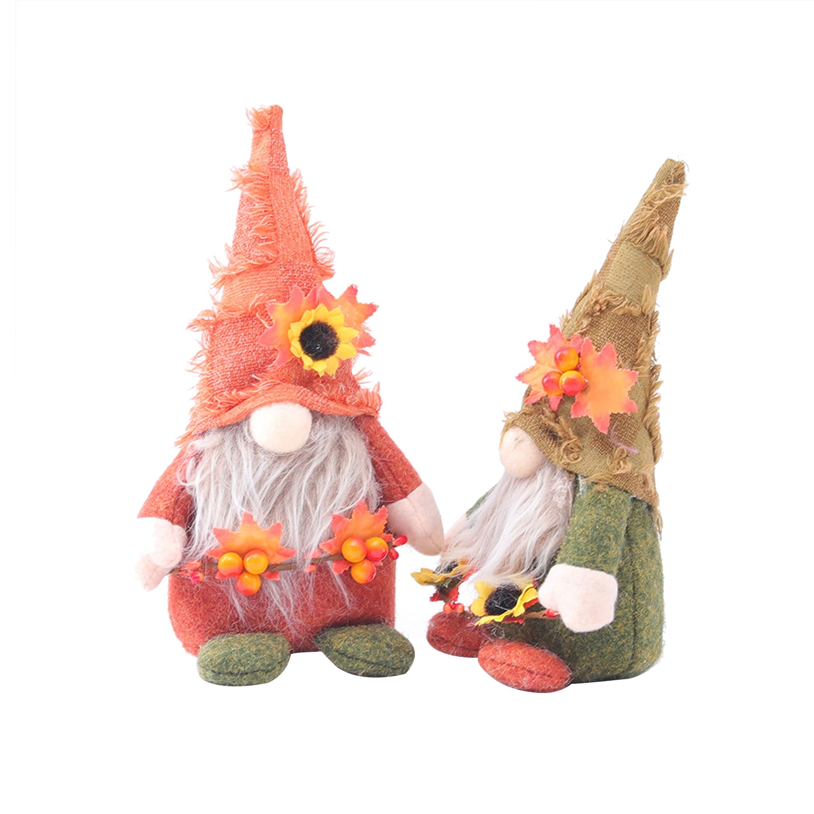 Sunflower Faceless Doll Plush Toy Handmade Cute Dwarf Plush Faceless Elf Decoration Doll for home Garden Room Decor Ornaments 4pcs magic hair elf trolls ugly baby troll bobby princess base model toy car decoration ornaments