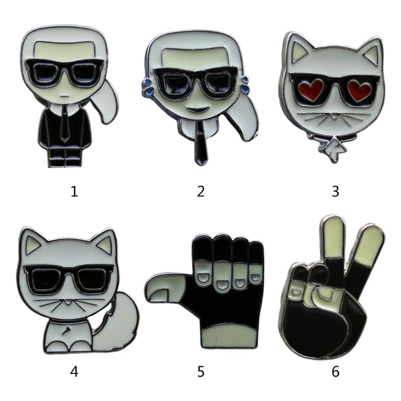 Personality Men Small Jewelry Enamel Badge Cute Cartoon Student Brooch Collar Button Sweater Buckle Pin Corsage