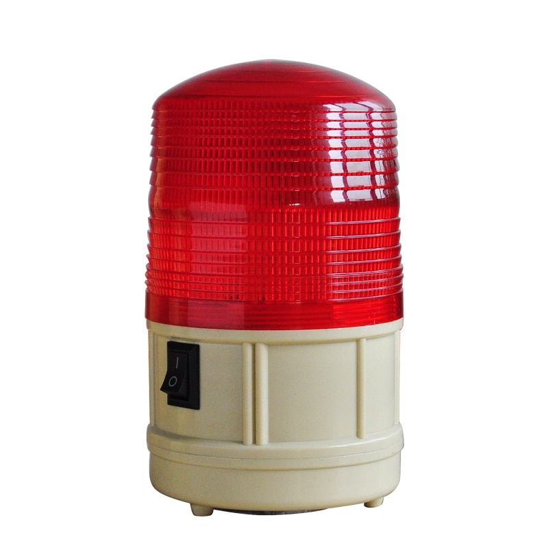 Red Green Blue Yellow LED Warning Light Battery Flashing Strobe Alarm Lighting  With Magnet Base lta 207 5 incandescent five layer tower warning light red yellow white blue green with round bottom beacon machine light tower