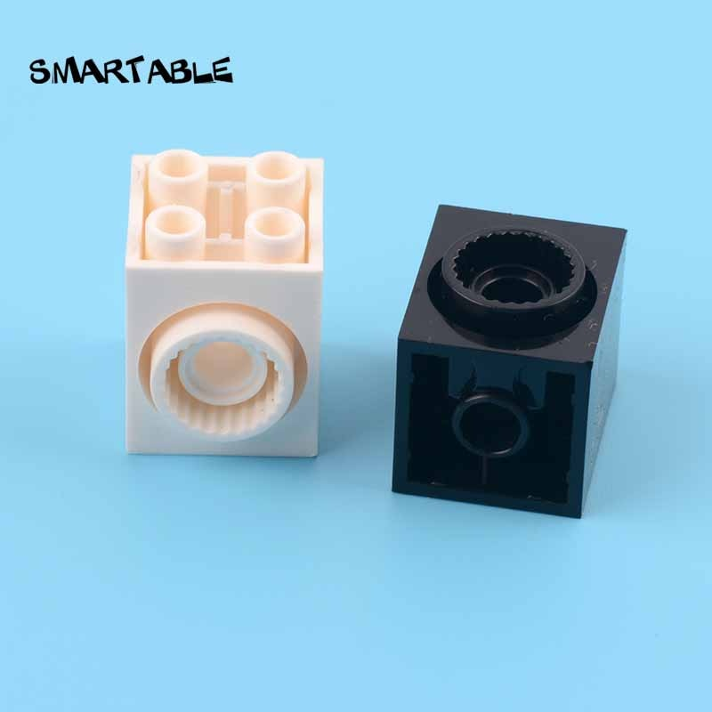 Smartable Brick 2x2x2 with 2 Holes and Click Ring Building Blocks MOC Parts Toy For Kids Compatible Major Brands 41533 5pcs/lot