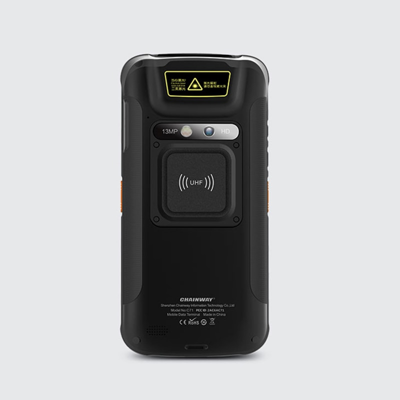YJT-971   860-928Mhz  RFID UHF  Android 6.0 Reader with WIFI Bluetooth 4G GPS Camera Function enlarge