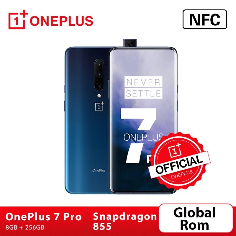 Перейти на Алиэкспресс и купить Смартфон OnePlus 7 Pro, Официальный магазин OnePlus с глобальной прошивкой, камеры 48 МП, Восьмиядерный Snapdragon 855, разблокировка AMOLED-экраном 2K + Fluid