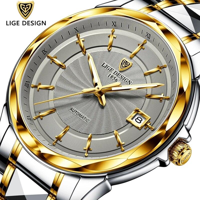 2020 LIGE Fashion Wrist Watch Men Automatic Tourbillon Tungsten Steel Waterproof Business Mechanical Watches Relogio Masculino