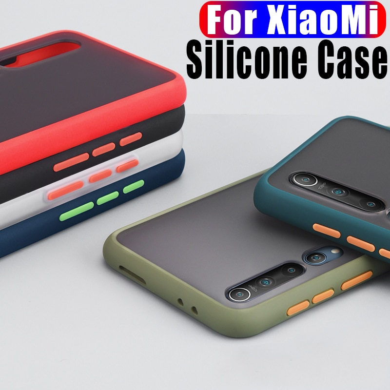 Transparent Matte Frame Phone Case For Xiaomi Redmi A3 9 Note 6 7 7S 7A 8A 8T 8 Pro K20 Mi 9T 10 Pro