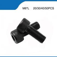 M6*8/10/12/14/16/18/20/22/25/30 mm DIN912  Grade 12.9 Alloy Black Steel  Hexagon Socket Head Cap  Furniture Screws