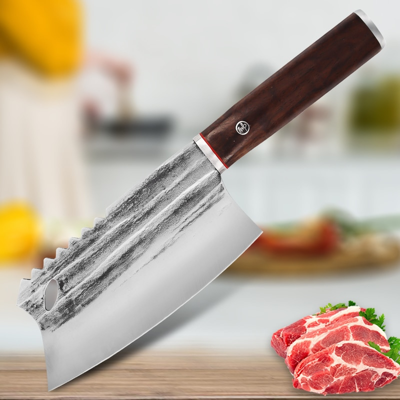 Kitchen Knife Stainless Steel Meat Chopping Knife Cutting Vegetables Chinese Chef Knife Cooking Knife Butcher Knives Fish Knife
