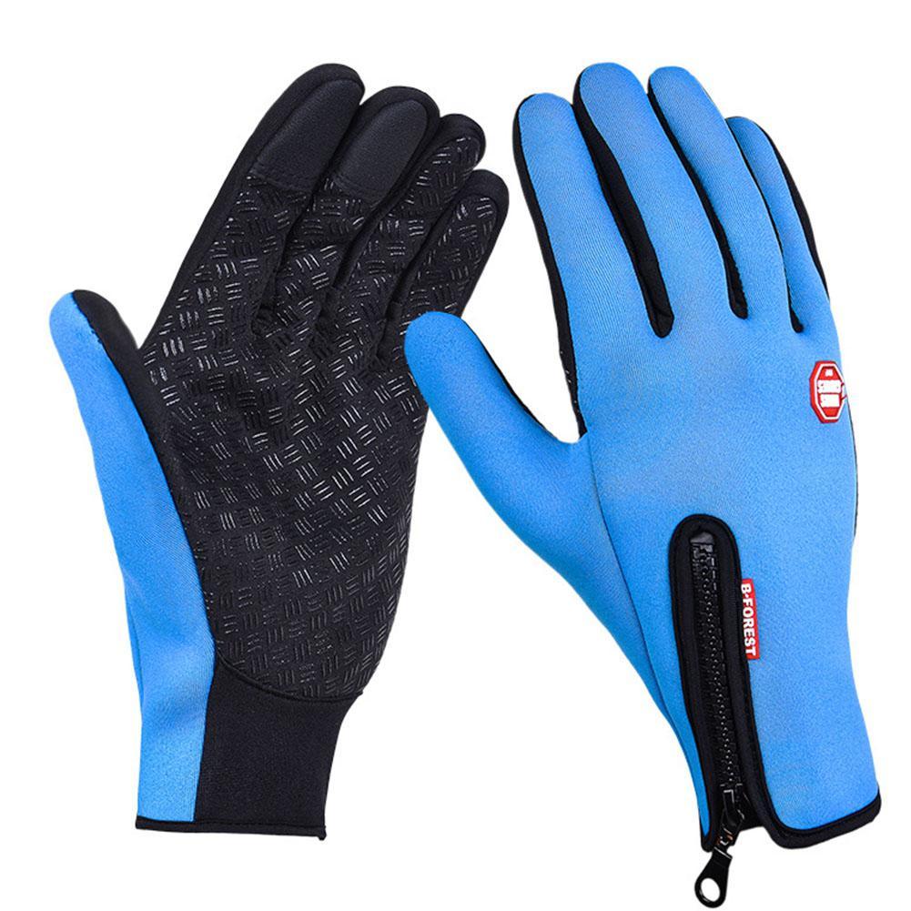 Guantes deportivos de dedos completos de Mounchain, con forro polar, que mantienen el calor, sensibles a los guantes para pantalla táctil