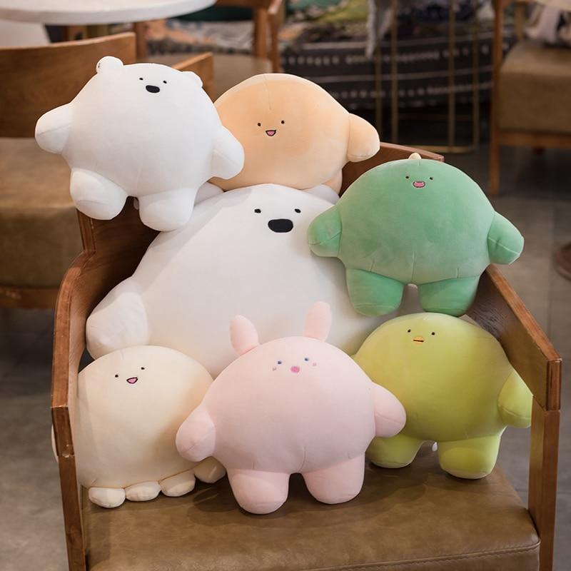 Polvo dinossauro pinguim urso polar coelho brinquedo de pelúcia gordo dos desenhos animados animais de pelúcia bonito boneca do bebê macio nap travesseiro sofá almofada presente