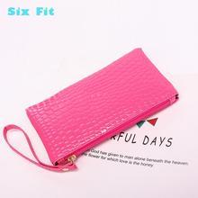 2020 Solid Handbag Women pink Clutch Bag Pu Leather lady Envelope Bag Zipper Evening Crocodile love