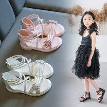 Girls Roman Sandals 2020 Summer Fashion Princess Shoes Little Kids Flower Party Gladiator Sandals