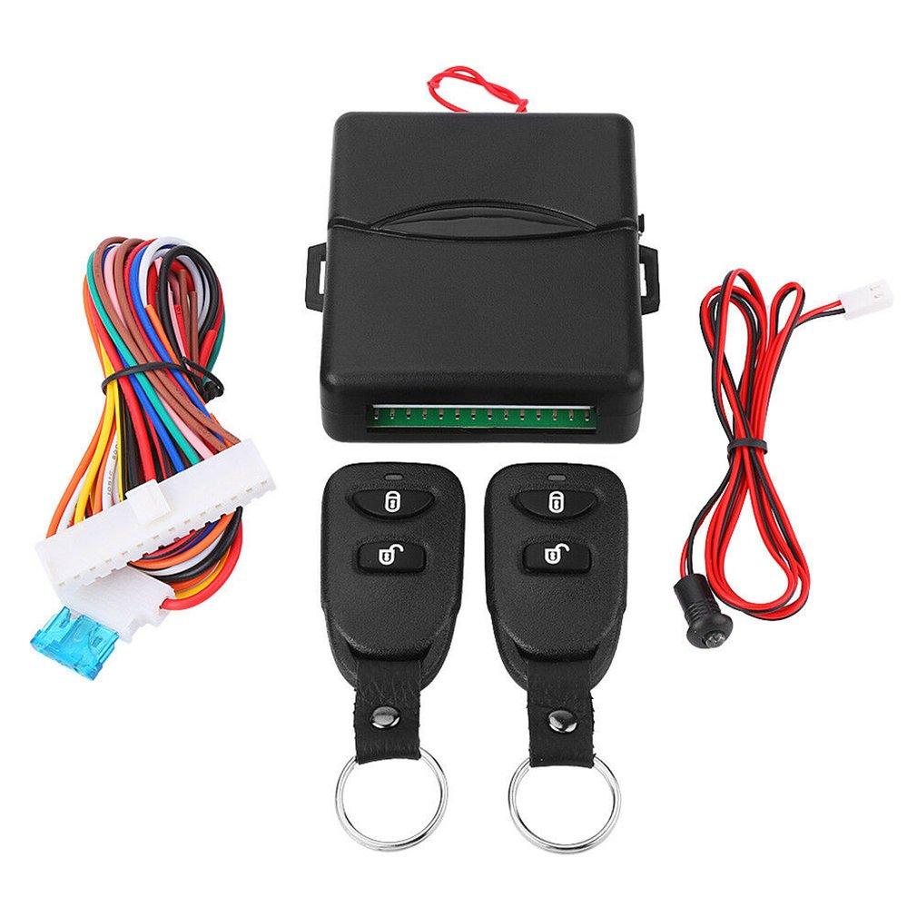 Coche Kit Central de Control remoto cerradura sistema de bloqueo de la puerta de entrada sin llave Control remoto Universal sistema de alarma para coche
