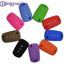 Силиконовый чехол для автомобильных ключей jingyuqin 3BTN, чехол для Kia RIO K2 K5 Sportage Sorento для Hyundai i20 i30 i35 iX20 iX35 Solaris Verna