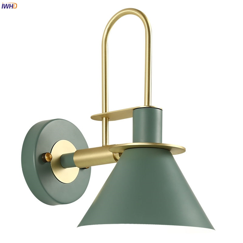 IWHD-مصباح جداري LED بتصميم إسكندنافي حديث ، إضاءة زخرفية داخلية ، مثالي لغرفة النوم أو غرفة المعيشة.