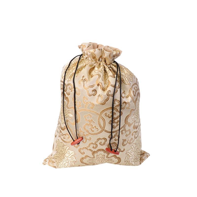 Bolsa de seda con cordón joyería estilo chino bolsa de almacenamiento bolsa de viaje bolsa de almacenamiento organizador de regalo bolsas de embalaje para fiesta de boda