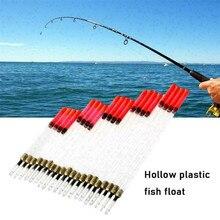 20 cristal clair Waggler pêche poissons flotteurs flottant tige Tube ensemble chargé pêche cristal Waggler flotteurs carpe attirail pêche #40