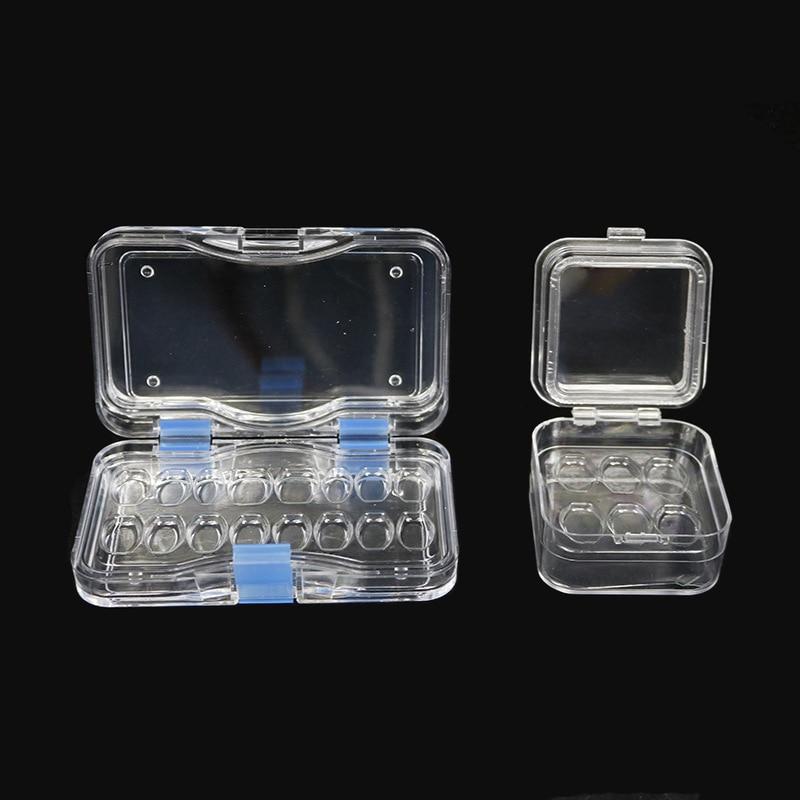 10 個透明義歯ストレージ箱膜歯ボックス穴歯科ベニヤボックス義歯ボックスケース