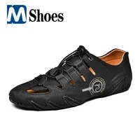 new summer mens shoes comfortable hollow out casual shoes mens sandals breathable leather shoes men flat shoes outdoor sneakers