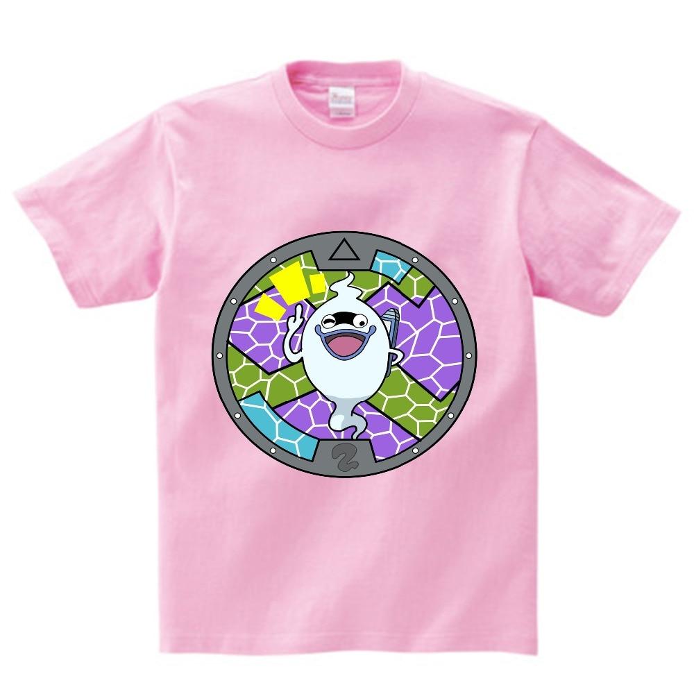 Yo-kai Watch T-shirt boy summer t-shirt kids print tshirt anime t shirt children brand clothing Multi-color O-Neck tee girl  NN