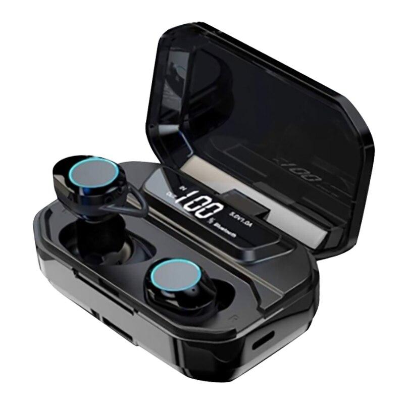 IG-TWS-G02 LED Digital Binaural BT estéreo auriculares deportivos a prueba de agua 5,0 Auriculares inalámbricos con Bluetooth
