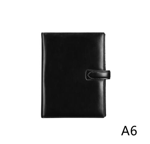 A6 Genuine Leather Planner 2021 Daily Planner Notebook Cover with Sliver Rings Multi-function Journal Agenda Leather Planner