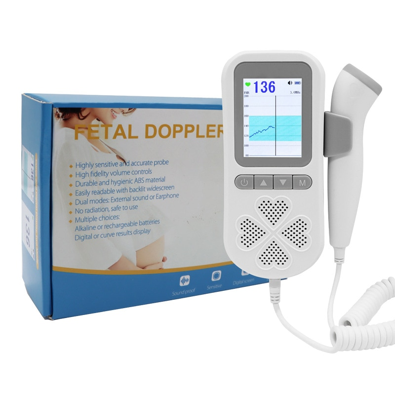 جهاز مراقبة الحد من الضوضاء المتعدد غير إشعاعي لمنزل المرأة الحامل نبضات قلب الجنين جهاز دوبلر نبضات القلب