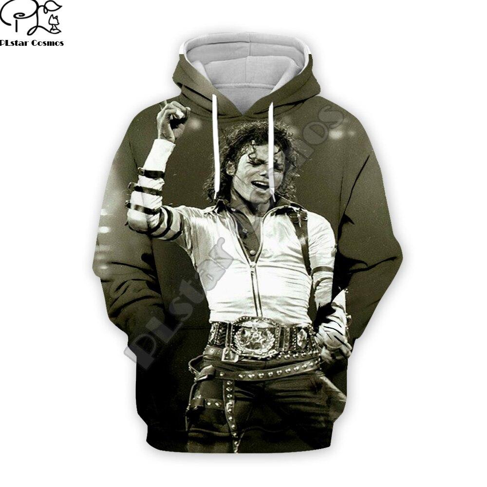 Plstar cosmos pop king michael jackson casual colorido 3 dprint moletom com capuz/moletom/jaqueta/masculino das mulheres hip hop spacewalk s-2