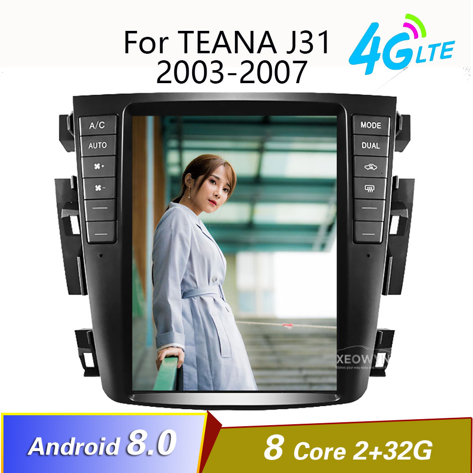 Android 8,1 Octa core RAM2GB radio de coche GPS para Nissan teana Nissan J31 2003-2007 230JK 230jm para Samsung S7 4G Lte