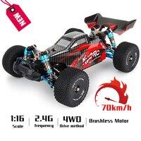 Новый Радиоуправляемый автомобиль 4WD гоночные автомобили соревнование 70 км/ч Металлическое шасси бесщеточный мотор Радиоуправление высок...