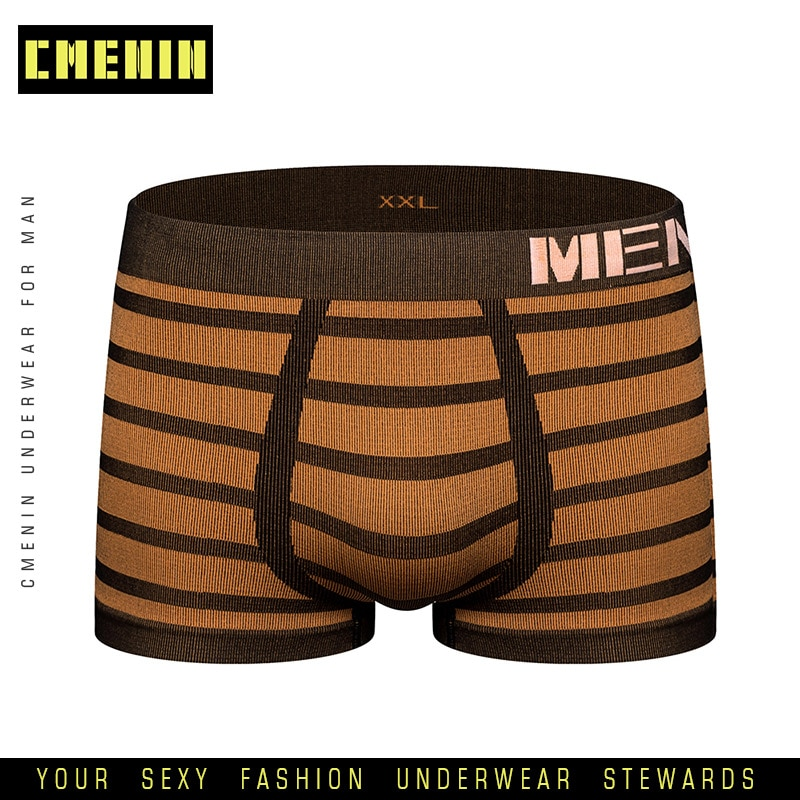 Nueva marca de ropa interior de secado rápido para hombres, calzoncillos Boxer a rayas, Calzoncillos Boxers de algodón para hombres, ropa interior, Boxers divertidos M0041