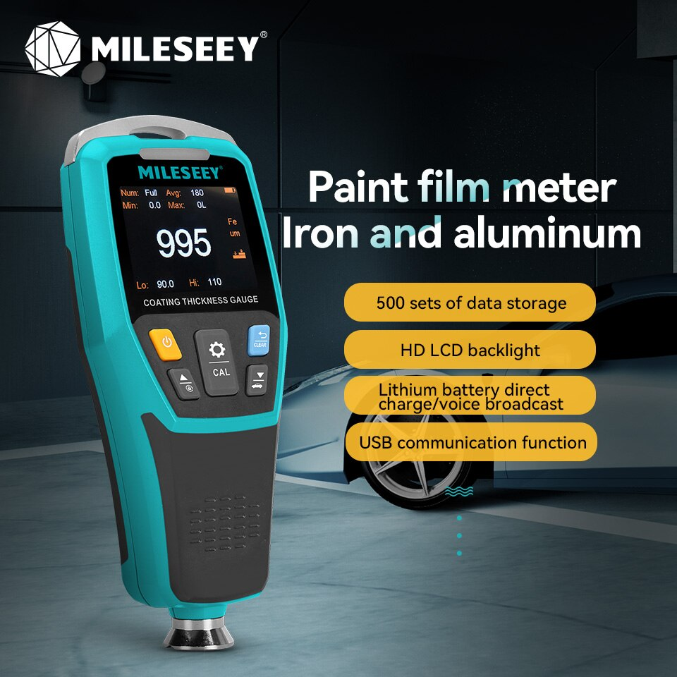 Mileseey MC998 طلاء سمك مقياس ل أدوات إصلاح السيارات أدوات السيارات فيلم الطلاء أداة قياس السمك قياس أدوات
