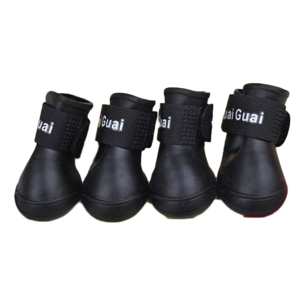 À prova d água Durável Mini Pet Pequeno Cão de Pelúcia Botas de Chuva Rainboots Sapatos Anti-Slip Botas Patas