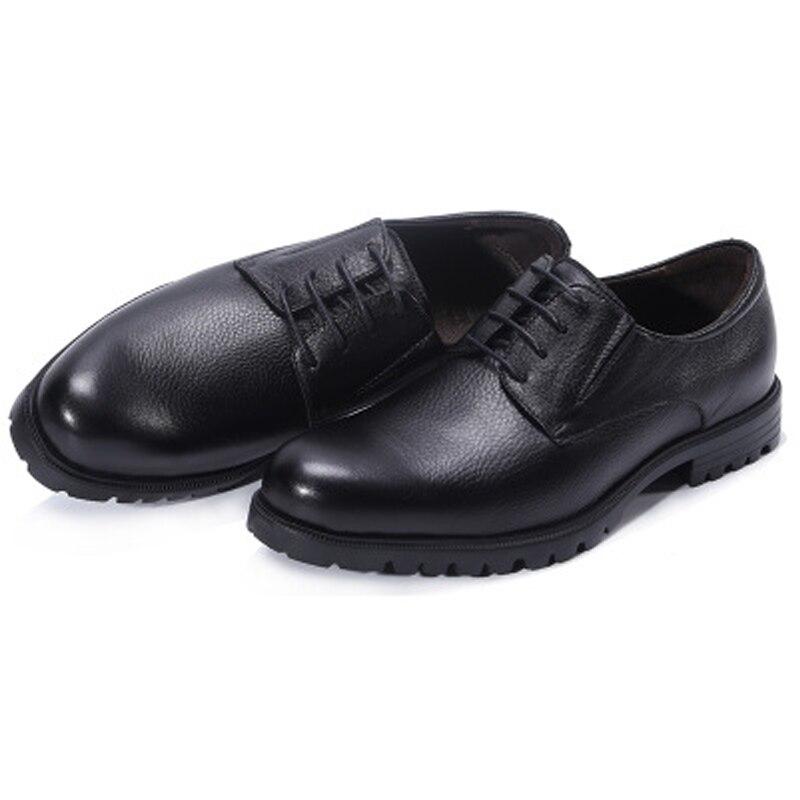 Jineyu-أحذية جلدية للرجال ، أحذية رجال الأعمال والترفيه ، نعل مطاطي ، غير قابل للانزلاق ، برباط