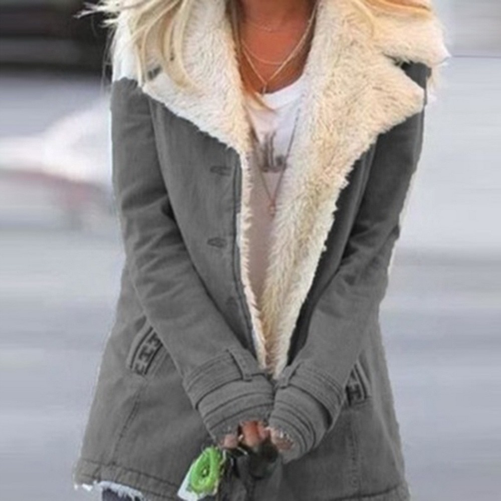 Jacket Coat Winter Women Hooded Wool Blend Praka Classic Horn Leather Buckle Coat Slim For Ladies Wi