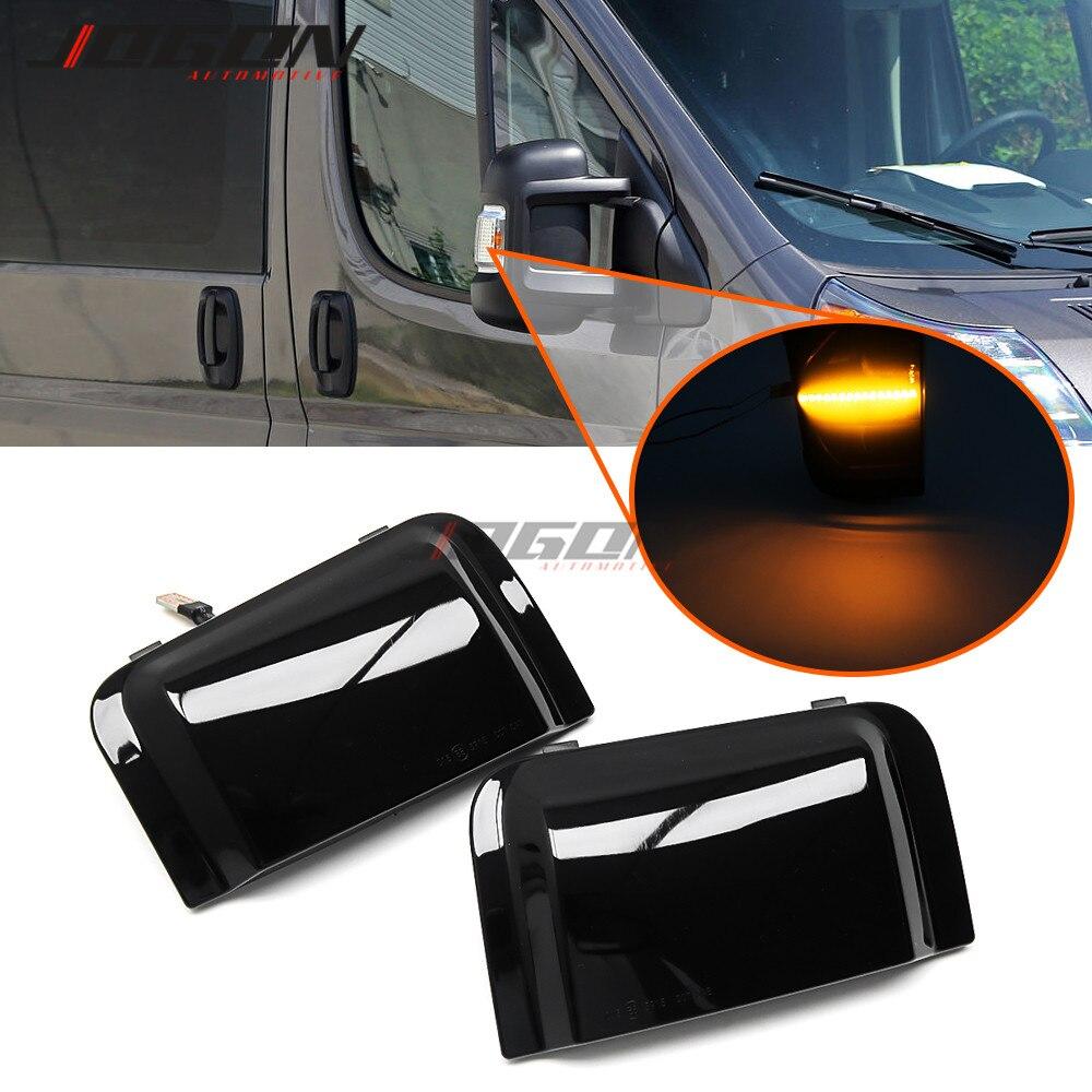 Led dinâmico espelho lateral luz indicadora para peugeot boxer para citroen jumper relé para ram promaster para fiat ducato caminhão