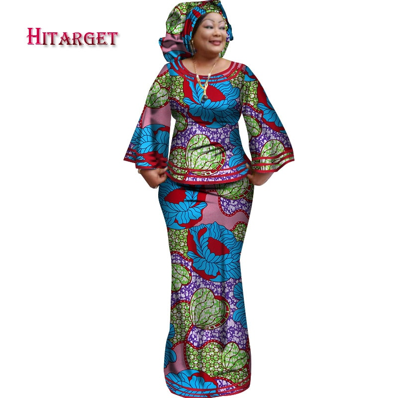 Stock Size XL/5XL Low Price African Dashiki Traditional Cotton Top Skirt Set of 3 Pieces (Top+Skirt+Headscarf)Clothing WY2372 stock price puzzle