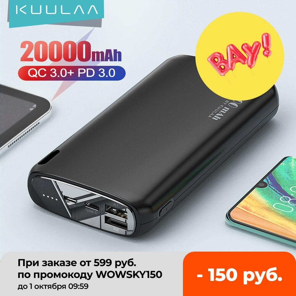 KUULAA Power Bank 20000mAh Portable Charging Poverbank Mobile Phone External Battery Charger Powerbank 20000 mAh for Xiaomi Mi