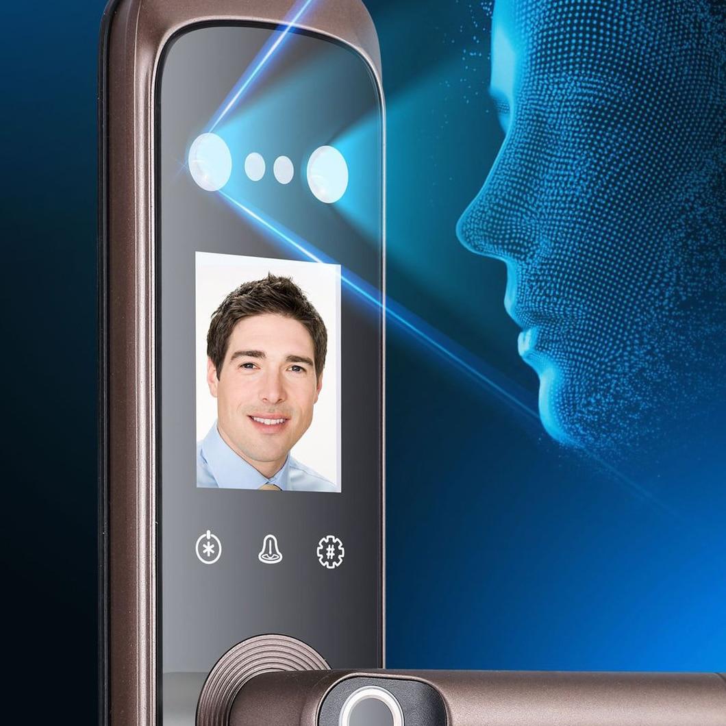 Smart Electric Locks for Doors Face Recognition Keyless Entry Fingerprint Digital Security Safe Smart Home