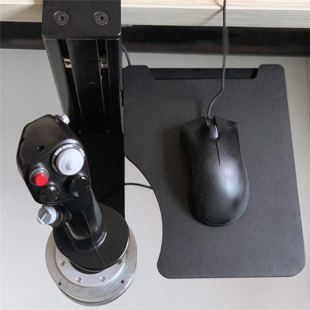 Bandeja para teclado de ratón, soporte de Metal para THRUSTMASTER Hotas X56 VKB, mando para simulador de vuelo, soporte de montaje de escritorio izquierdo/derecho
