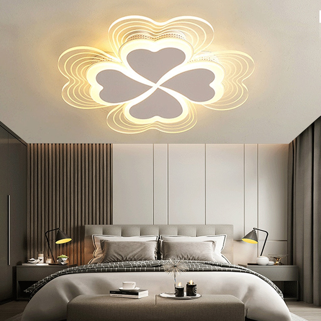Ceiling Light LED Lamp Modern Dimmable with Remote Boy Girl Bedroom Decorative Chandelier Children's Room Office Corridor Study