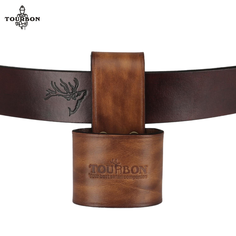 Tourbon Genuine Leather Hammer Holder Axe Holster Tool Organizer Sheath Case Woodwork Ax Belt Loop недорого