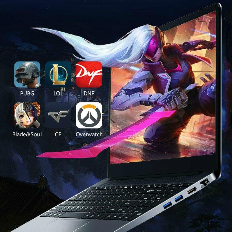 i7-8550U 15.6 Inch 8G RAM Metal Laptop GeForce MX150 2G Gaming Computer Notebook Business Office High Performance SSD Netbook