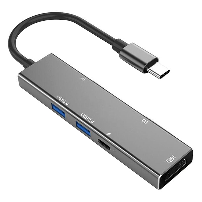 Convertidor de lector de tarjetas SD TF tipo C USB C a HDMI tipo C Cable adaptador de concentrador USB 3,0 2,0 para ma-cbook Samsung S9 Huawei P30