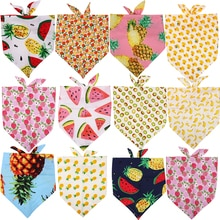 50X Summer&Christmas Dog Cat Bandanas Scarf Adjustable Kids/Baby Dogs Cats Bibs Triangular Bow Ties