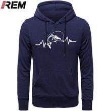 REM sweats à capuche vêtements chauds coton hommes haute qualité battement de coeur carpe pêcheur Angler appâts à capuche, sweat-shirts