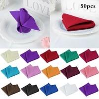 50pcs polyester linen napkins wedding table napkins cotton cloth napkins for wedding napkins wholesales wedding decoration
