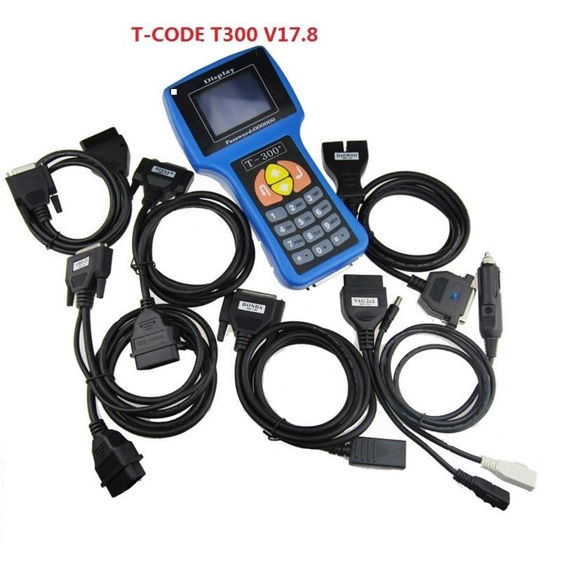 Programador de llave automático T300 DE CALIDAD A + + T-300 Software de código T V 17,8 compatible con fabricante de llaves T300 de múltiples marcas