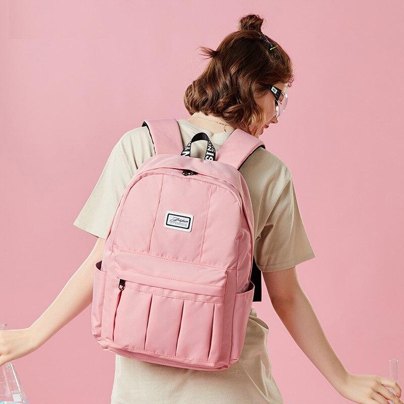 Women Canvas Backpacks Fashion High Quality School Bag for Teenagers Girls Big Cute Laptop Backpack Candy Color Mochila Rucksack