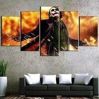 Toile de peinture Hd de Clown de film classique  5 pieces  affiche dart mural Hd  image modulaire  decoration de la maison  imprimes de salon